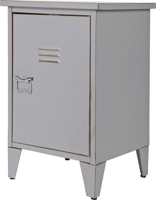 NACHTKÄSTCHEN Grau - Grau, Design, Metall (40/60,5/35cm) - Carryhome