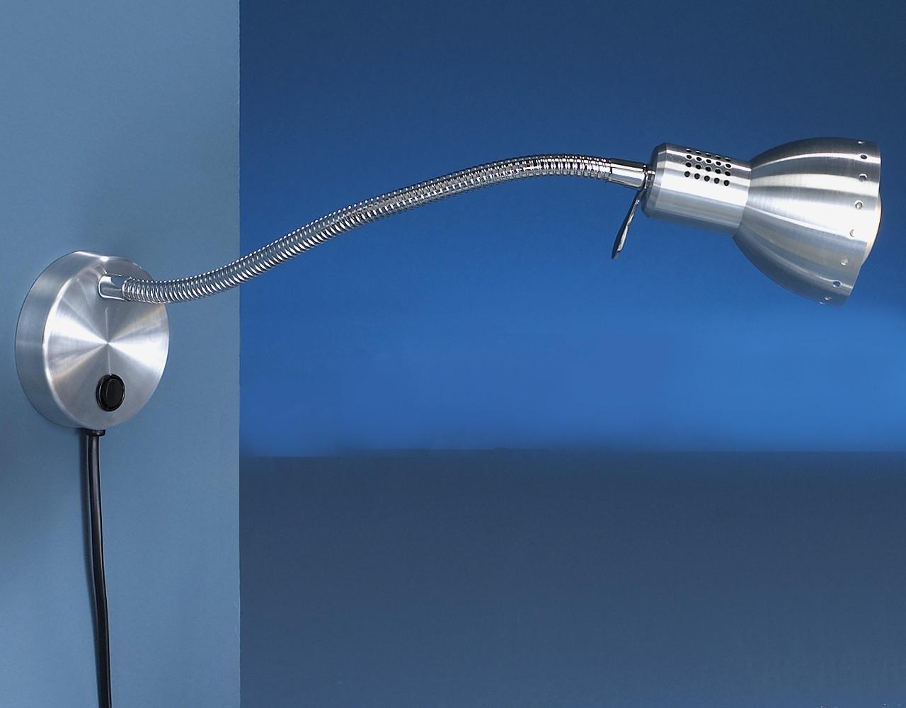 WANDLEUCHTE - Alufarben, KONVENTIONELL, Metall (47cm)