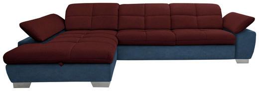 WOHNLANDSCHAFT in Textil Blau, Rot - Chromfarben/Blau, Design, Textil/Metall (204/297cm) - Xora