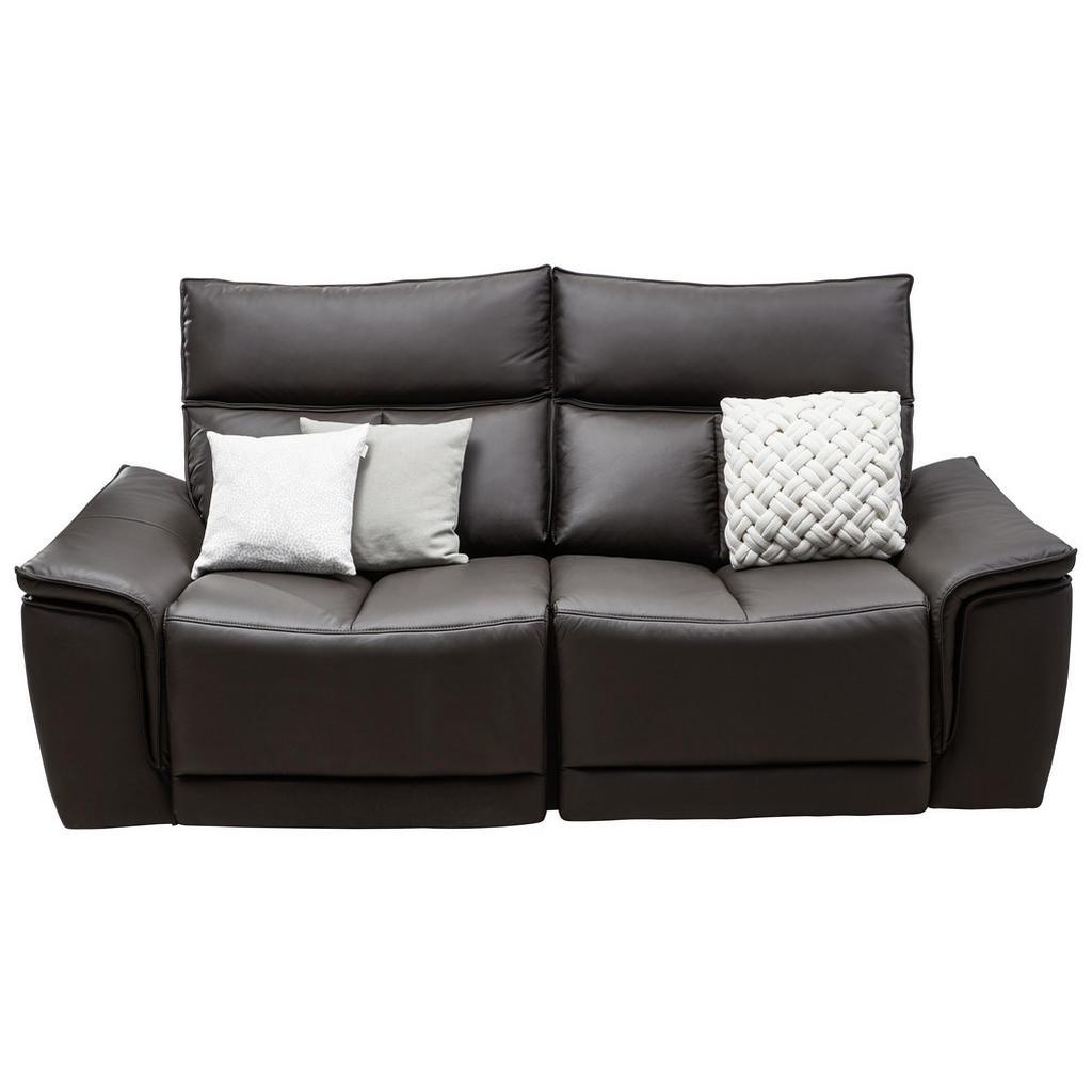 Celina Home Zweisitzer-sofa in leder dunkelbraun