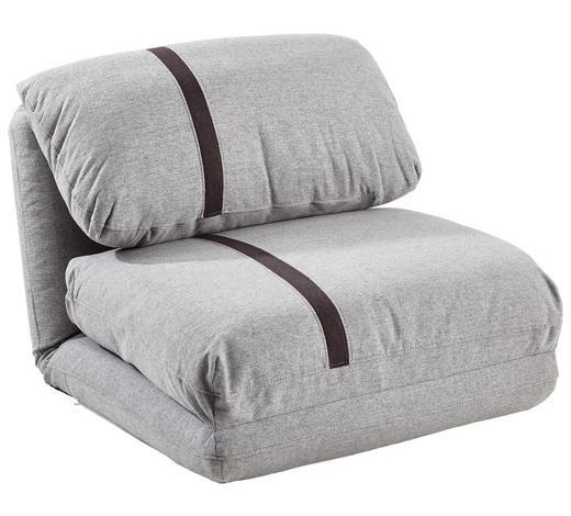 SCHLAFSESSEL Webstoff Hellgrau, Dunkelgrau - Dunkelgrau/Hellgrau, Design, Textil (78/82/58cm) - Carryhome