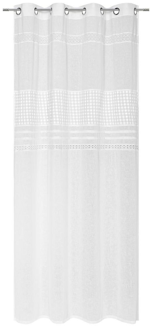 ÖSENSCHAL  blickdicht  140/255 cm - Weiß, LIFESTYLE, Textil (140/255cm) - Landscape