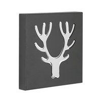 KROK - silver/svart, Design, metall (17,7/17,7/2,8cm)