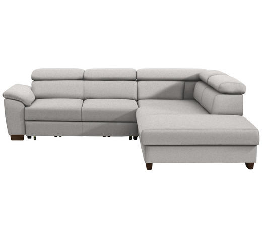WOHNLANDSCHAFT in Textil Beige - Wengefarben/Beige, MODERN, Holz/Textil (263/229cm) - Hom`in