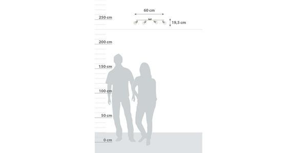 Strahler Evelin 4-Flammig verstellbar L: 60 cm - MODERN, Metall (60/19,5cm) - Luca Bessoni
