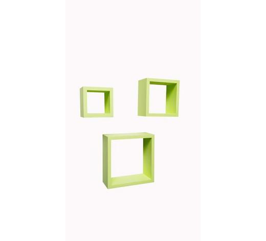 STENSKI REGAL 23/17,8/12/23/17,8/12/9,6/9,6/9, cm zelena  - zelena, Design, leseni material (23/17,8/12/23/17,8/12/9,6/9,6/9,cm) - Boxxx