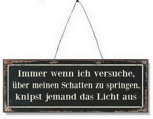DEKOSCHILD - Schwarz/Weiß, LIFESTYLE, Papier/Metall (13/36cm) - Ambia Home