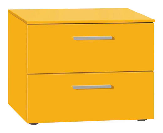 NACHTKÄSTCHEN lackiert Orange - Alufarben/Orange, Design (50/41/41cm) - Xora