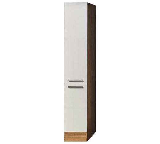 APOTHEKERSCHRANK - Eichefarben/Silberfarben, KONVENTIONELL, Holzwerkstoff/Metall (30/211/60cm) - Xora