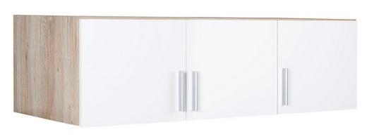 AUFSATZSCHRANK - Eichefarben/Alufarben, KONVENTIONELL, Holzwerkstoff/Kunststoff (136/39/54cm) - Carryhome