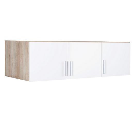 NÁSTAVEC NA SKŘÍŇ, bílá, barvy dubu - bílá/barvy dubu, Konvenční, kompozitní dřevo/umělá hmota (136/39/54cm) - Carryhome