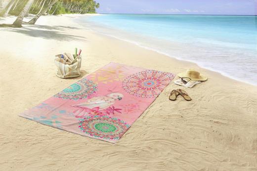 STRANDTUCH 100/180 cm - Pink/Multicolor, Textil (100/180cm)