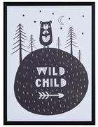 Kinder BILD - Schwarz/Weiß, Trend, Kunststoff/Textil (30/40cm) - Monee