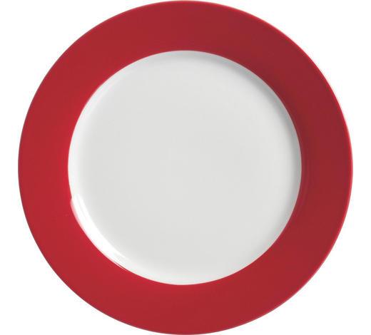 Porzellan  DESSERTTELLER  rund  - Rot/Weiß, Basics, Keramik (20cm) - Ritzenhoff Breker