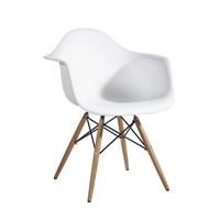 STOLICA - bijela, Moderno, drvo/metal (61/77,5/62cm) - AMBIA GARDEN