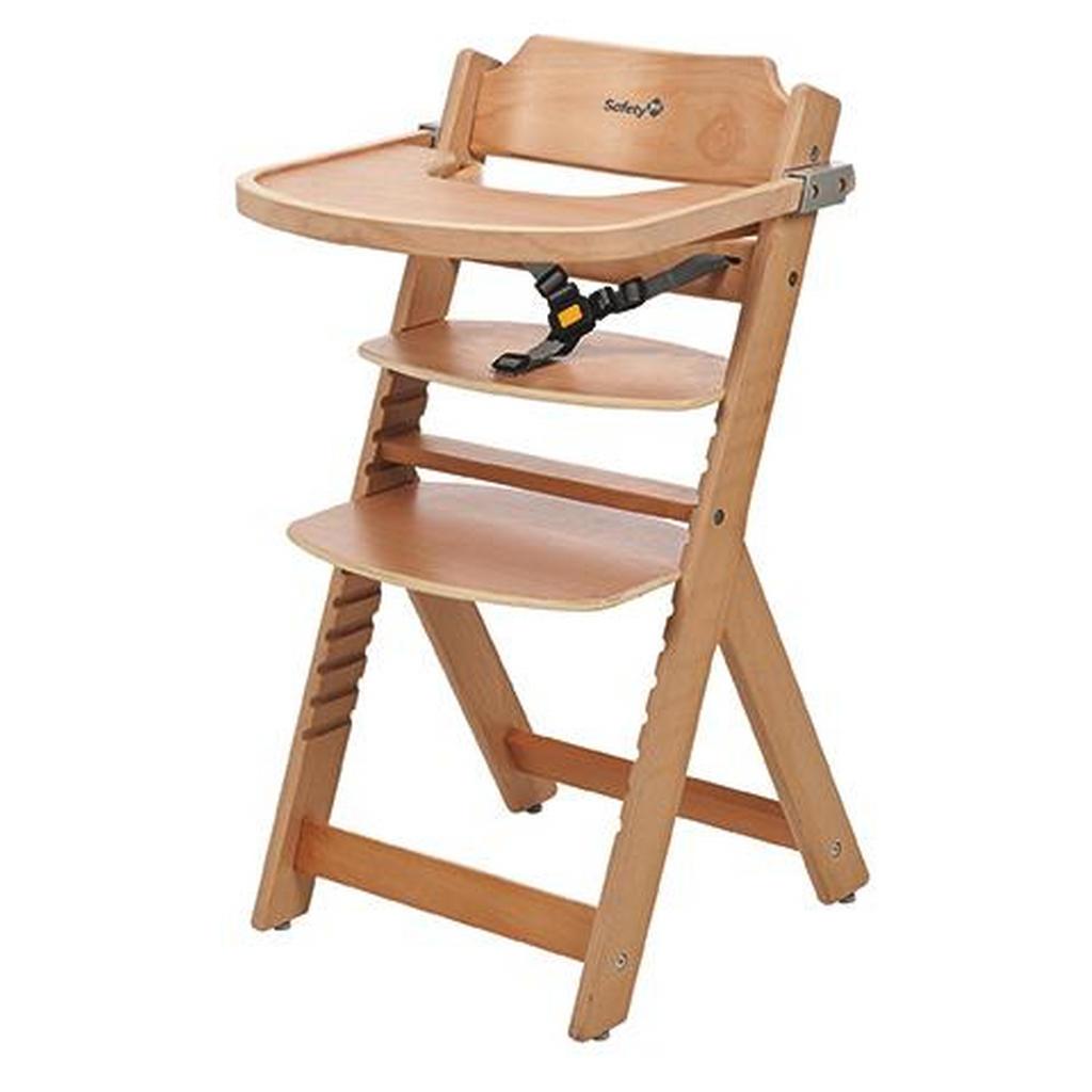 Safety 1st Hochstuhl Timba Buche Natural Wood, Mehrfarbig | Kinderzimmer > Kinderzimmerstühle > Hochstühle | Holz | Safety 1st