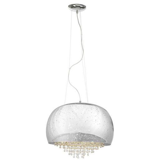 HÄNGELEUCHTE - Chromfarben, Design, Glas/Metall (50/157cm)