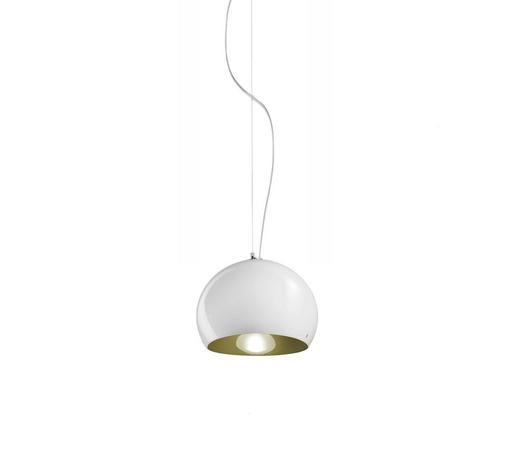 HÄNGELEUCHTE - Dunkelgrün/Weiß, Design, Glas (27/18cm)