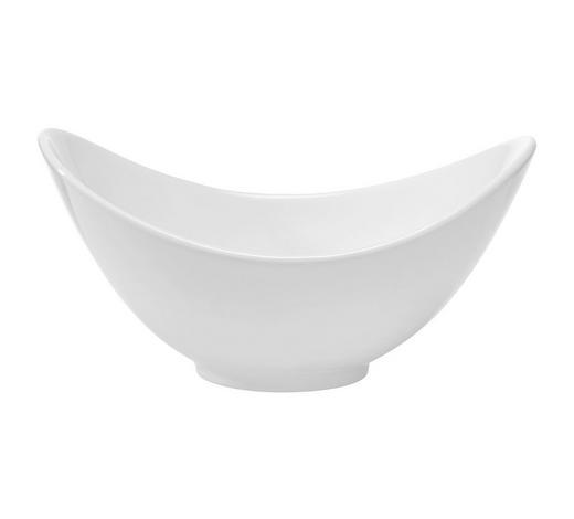 SCHÜSSEL  - Weiß, Basics, Keramik (19/13,3/8,7cm) - Novel