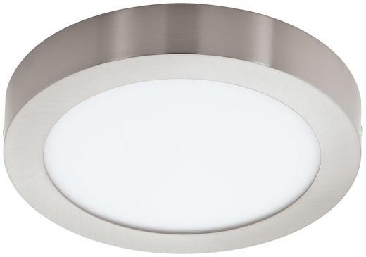 AUFBAULEUCHTE - Nickelfarben, Design, Kunststoff/Metall (30/4cm)