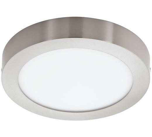 AUFBAULEUCHTE LED-Leuchtmittel - Weiß/Nickelfarben, Basics, Kunststoff/Metall (30/4cm)