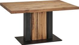 ESSTISCH in Holz, Metall, Holzwerkstoff 140/90/75 cm   - Eichefarben/Schwarz, KONVENTIONELL, Holz/Holzwerkstoff (140/90/75cm) - Moderano