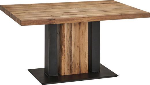 ESSTISCH in Holz, Holzwerkstoff, Metall - Eichefarben/Schwarz, KONVENTIONELL, Holz/Holzwerkstoff (140/90/75cm) - Moderano