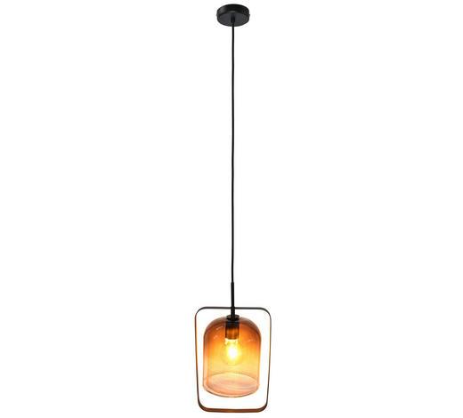 HÄNGELEUCHTE - Schwarz, Trend, Glas/Metall (23/120cm) - Dieter Knoll