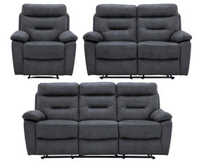 SOFFGRUPP - svart/grå, Klassisk, metall/trä