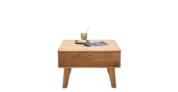 COUCHTISCH in Holz 70/70/45 cm - Champagner/Eichefarben, KONVENTIONELL, Holz/Metall (70/70/45cm) - Voleo