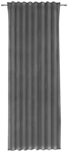 GARDINLÄNGD - mörkgrå, Klassisk, textil (135/255cm)