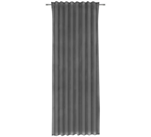 ZÁVĚS, neprůsvitné, 135/255 cm - tmavě šedá, Konvenční, textil (135/255cm) - Esposa
