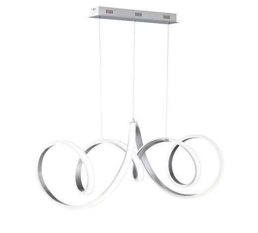 LED-HÄNGELEUCHTE - Alufarben, Design, Kunststoff/Metall (102/150/40cm)