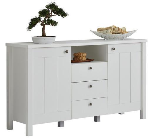 SIDEBOARD matt, foliert - Weiß/Bronzefarben, LIFESTYLE, Holzwerkstoff/Metall (157/90/44cm) - Carryhome