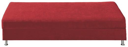 LIEGE Rot - Chromfarben/Rot, KONVENTIONELL, Textil/Metall (200/48/90cm) - NOVEL