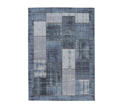 FLACHWEBETEPPICH  200/200 cm  Blau   - Blau, Basics, Textil (200/200cm) - Novel
