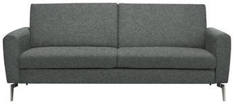 SCHLAFSOFA in Metall, Textil Dunkelgrau  - Edelstahlfarben/Dunkelgrau, Design, Textil/Metall (207/91/88cm) - Carryhome