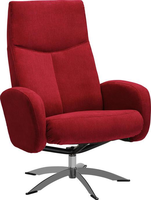 RELAXSESSEL Relaxfunktion - Chromfarben/Rot, Design, Textil/Metall (71/104/72cm) - Welnova