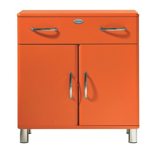 KOMMODE Orange - Orange/Nickelfarben, Design, Holzwerkstoff/Metall (86/92/41cm) - CARRYHOME