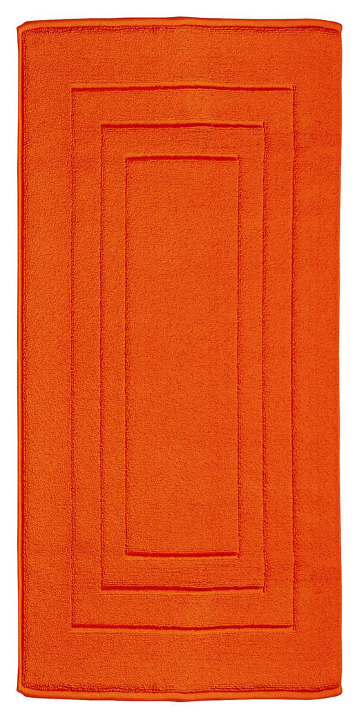 BADEMATTE in Orange 67/120 cm - Orange, Basics, Textil (67/120cm) - Vossen