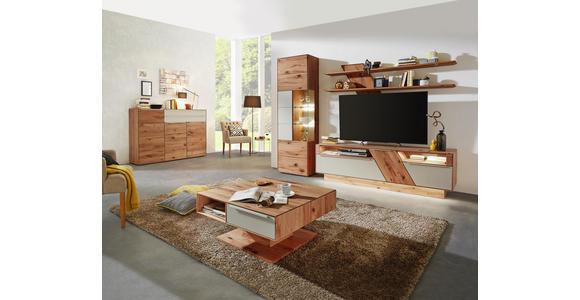 COUCHTISCH in Holz, Glas 82/82/40-72,5 cm   - Schlammfarben/Buchefarben, Design, Glas/Holz (82/82/40-72,5cm) - Valnatura