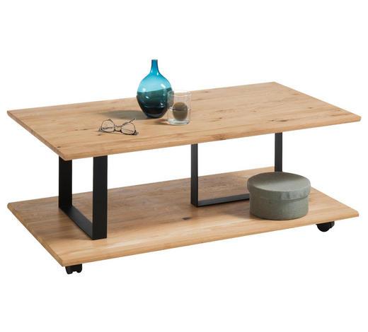 COUCHTISCH in Holz, Metall 110/60/41 cm - Eichefarben/Schwarz, Design, Holz/Metall (110/60/41cm) - Hom`in