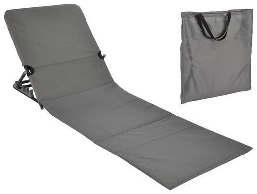 STRANDLIEGE - Grau, Basics, Kunststoff/Metall (145/47/52cm)