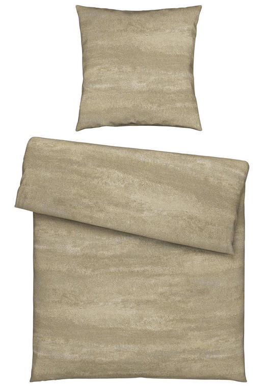BETTWÄSCHE Jersey Beige 155/220 cm - Beige, Design, Textil (155/220cm) - Novel