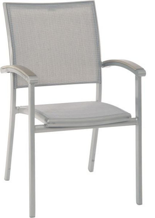 STAPELSESSEL Polywood® Aluminium Graphitfarben, Grau - Graphitfarben/Grau, Design, Kunststoff/Textil (62/90/58cm) - STERN