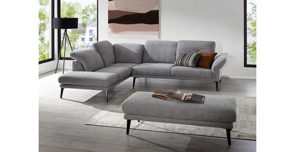 WOHNLANDSCHAFT Grau Webstoff  - Schwarz/Grau, Design, Textil/Metall (226/292cm) - Valnatura