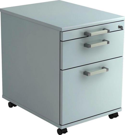ROLLCONTAINER Grau - Chromfarben/Grau, KONVENTIONELL, Kunststoff/Metall (42,8/59/58cm)