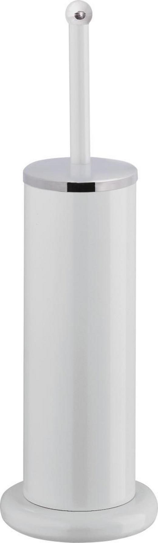 WC-BÜRSTENGARNITUR Metall - Weiß, Basics, Kunststoff/Metall (12.5/41cm)
