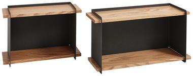 WANDREGALSET - Eichefarben/Anthrazit, Design, Holz/Holzwerkstoff - Xora