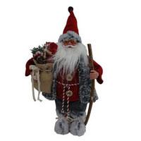 BOŽIČEK CH93706 - rdeča/siva, Basics, tekstil (32/12/63cm) - X-Mas
